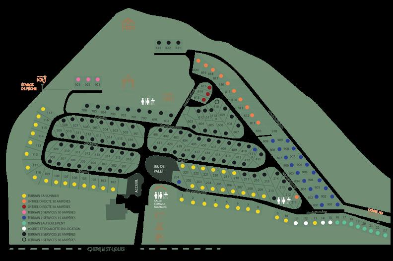 Carte du camping Au Jardin de mon Père