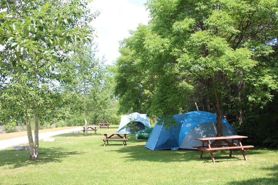 Tents near the river