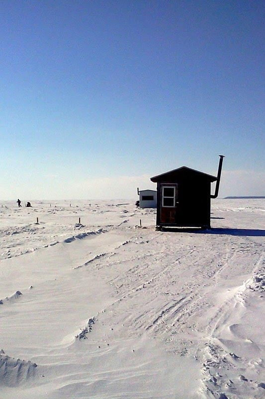 Ice fishing cabin